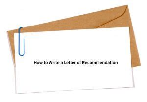 How to write internship letter of recommendation